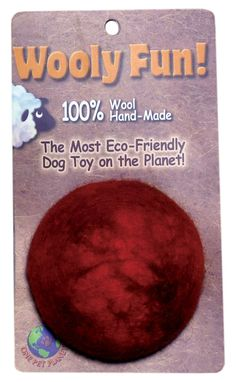 One Pet Planet 86014 3.5-Inch Wooly Fun Ball Dog Toy * Click on the image for additional details. (This is an affiliate link and I receive a commission for the sales)