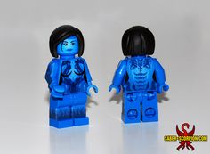 Custom LEGO minifigures inspired by Halo Made using decals.