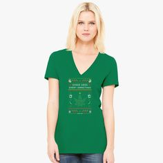 42e34de7cf697 Christmas on Hoth Women s V-Neck T-shirt is designed by larissachou and  printed in U. Buy this item at Customon - Custom t-shirt printing company!