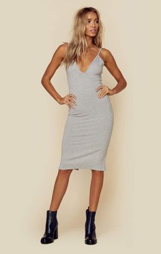 RIBBED HAVANA NIGHT BODY SLIP