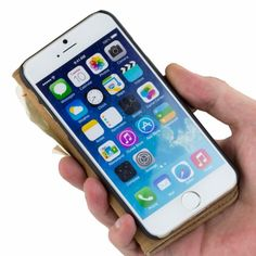 Golden Phoenix iPhone 6 Tasche Royal Wildleder hellbraun