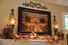 Savvy Seasons by Liz: Living Room Fall Mantle