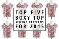 Indiesew.com | Top Five Boxy Top Sewing Patterns for 2015