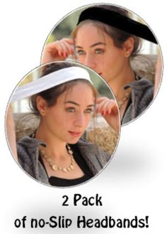 Here you can purchase two Anti-Slip headbands (Black & White) for the best price! The best quality headbands made from anti-slip velvet! Excellent under each tichel, head scarf, head scarves, wigs, scarf, hair snoods, snoods, pre tied bandanas, head s