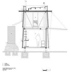 Plano de corte de pequeña casa de campo