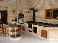 """Exceptional """"built in grill patio"""" detail is offered on our website. Read more and you wont be sorry you did. Diy Grill, Barbecue Grill, Outdoor Kitchen Design, Kitchen Decor, Outdoor Oven, Built In Grill, Outdoor Living, Outdoor Decor, Cuisines Design"""