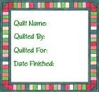 Red & Green Printable Quilt Label