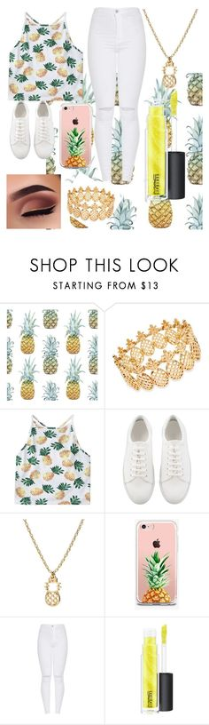 """""""Pineapple"""" by mini-lucifer ❤ liked on Polyvore featuring INC International Concepts, The Casery and MAC Cosmetics"""