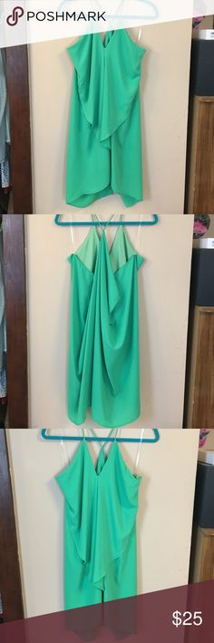 Sexy Sheer Mini Dress NWT-Party Dress! **Please Note: The color is more of a bright green** I couldn't get the color right in the pics. Very cute and unique  Karlie Dresses Mini