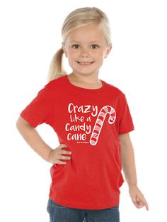 Crazy Like a Candy Cane INFANT TODDLER YOUTH by ZanyDuDesigns