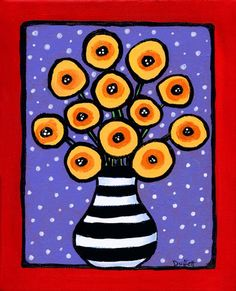 Funky Poppies Print