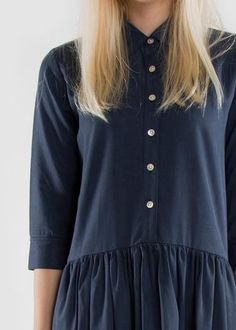 Shirt Shift Dress Navy