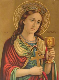 Η Αγία Βαρβάρα, έλαμψε με τη δόξα του μαρτυρίου Της. Mona Lisa, Saints, Spirituality, Princess Zelda, Christian, Artwork, Fictional Characters, Image, Santa Barbara