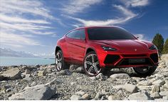 Lamborghini SUV.  What lady wouldn't want to drive their son to soccer practice in this?!  Maybe it would take us only 1.5hrs to drive to the cottage (versus the usual 3hrs)