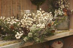Winter candle arrangement
