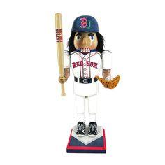 Kurt Adler MLB Red Sox Nutcracker with Bat and Glove