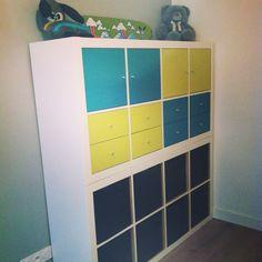 Étagère expedit Ikea customisée pour chambre de bébé ! #custom #ikea #expedit