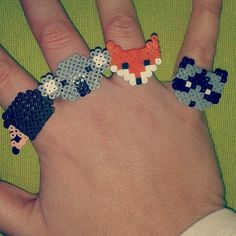 Animal Rings (square board) Hedgehog, Koala, Fox, Raccoon