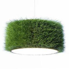 Lampenschirm aus echtem gras/ lampshade made of grass