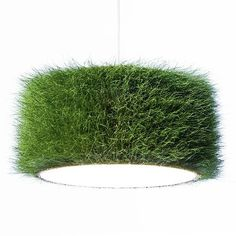 Lampenschirm aus echtem gras/ lampshade made of grass