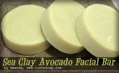 Sea clay avocado facial bar cold process soap