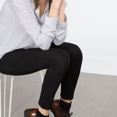 Zara Premium Denim Black Skinny Denim NWT/ No Trades/ No PayPal/ Size 10 inseam 29 Zara Pants Skinny