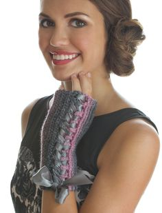 Crochet mitts from this month's Crochet Today! magazine. I need this yarn!