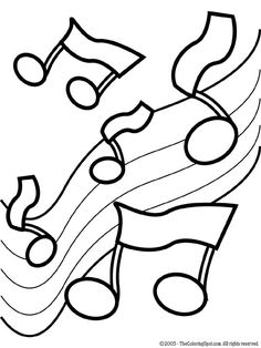 Music Coloring Pages | Music Notes 2 | Free printable coloring pages for kids | Coloring ...