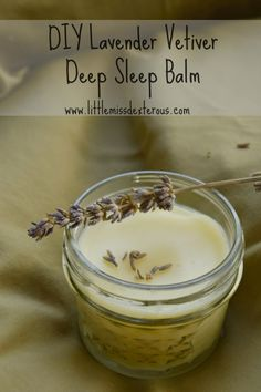 Do you feel like you can't fall asleep at night?This VERY simple DIY Lavender Vetiver Deep Sleep Balm can have you snoring in no time! It is SO easy to make