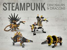 Steampunk Dinosaurs & Dragons - 3D Printed by WhiteClouds — Kickstarter