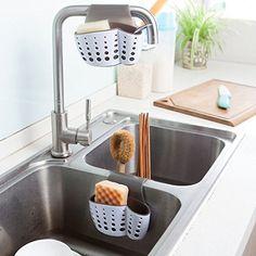 Kitchen Storage & Organization Sponge Holder Sink Caddy Soap Holder For Kitchen Plastic Storage Baskets & Garden