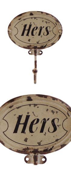 What to do with your coat? You could sling it over a chair, toss it on a pouf—or hang it up in on this very-civilized Lady's Coat Hook. The old-fashioned lettering is irresistibly quaint, while the sha...  Find the Lady's Distressed Coat Hook, as seen in the The Apothecary Collection at http://dotandbo.com/collections/holiday-boutiques-the-apothecary?utm_source=pinterest&utm_medium=organic&db_sku=113548