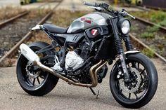 "Yamaha Scrambler ""Super by JVB-Moto built for the Yamaha Yard Built Project. Yamaha Cafe Racer, Moto Cafe, Ducati Scrambler, Scrambler Motorcycle, Yamaha Bikes, Motorcycle Gear, Cafe Racers, Moto Custom, Bobber Custom"