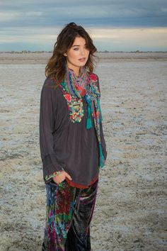 Johnny Was Collection Fall 2015 Lookbook featuring the ELEANOR TUNIC