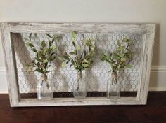 Chicken wire frame decor