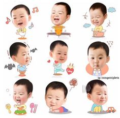 Song triplet icons are now available on KakaoTalk! ❤ I wish Line will release this stickers too!