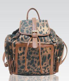 Hello, leopard backpack. We belong together