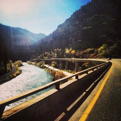 Thanks to Instagram user @deftones0209 for this great shot of Glenwood Canyon! Not a bad drive. #glenwoodsprings #colorado