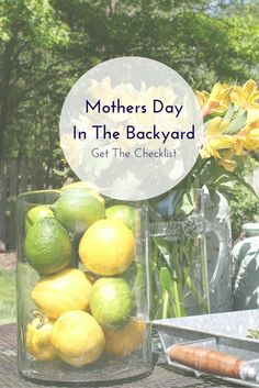 Mother's Day in the Backyard - Get the Checklist