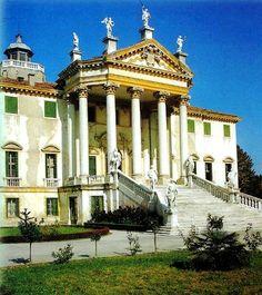 Villa Giovanelli at Noventa Padovana Renaissance, Padua Italy, Andrea Palladio, Villas In Italy, Italian Home, Classic Architecture, Italy Travel, Wonderful Places, Wonders Of The World