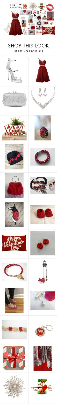 """Happy Valentine's Day Gifts"" by monique-eves ❤ liked on Polyvore featuring interior, interiors, interior design, home, home decor, interior decorating, Giuseppe Zanotti, Love Moschino and Kraus"