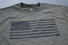 Perfect deployment shirt for our service men and women!! Great seller and great shirt! USA flag Tshirt military tactical olive drab by gorillatactical, $13.99
