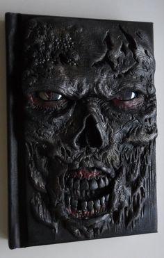 The Walkind Dead zombie polymer clay journal horror by ClaymanPL