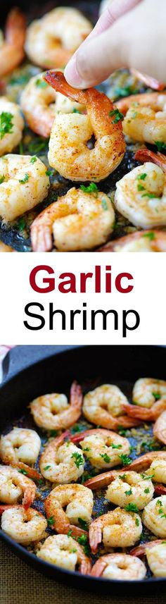 Garlic Shrimp - amazing sauteed shrimp with garlic, butter, lemon juice and cayenne pepper. This recipe takes only 10 mins from prep to dinner table   rasamalaysia.com