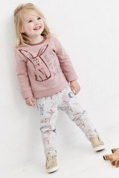 Buy Mid Pink Bunny Jogger And Sweatshirt Set from the Next UK online shop Girl Outfits, Cute Outfits, Winter Looks, Winter Collection, Uk Online, Outfit Sets, Joggers, Kids Fashion, Bunny