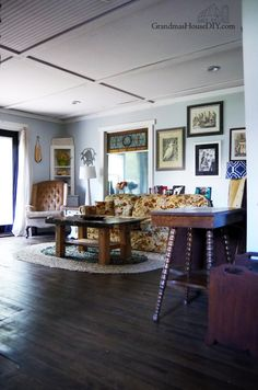 Home Tour: Living Room Reveal, Country, Thrift Stores And Hand Me Downs!