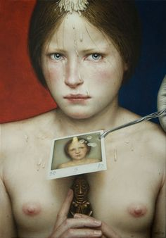 Dino Valls - Gallery LVX Oil gold leaf and silver leaf/wood