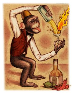 "Illustration for the ""Firecraker Margarita Cocktail"""