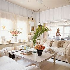 100 Comfy Cottage Rooms | Shabby-Chic Living Room | CoastalLiving.com