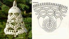 40 trendy ideas for crochet christmas bells diagram Crochet Christmas Decorations, Crochet Decoration, Crochet Ornaments, Christmas Crochet Patterns, Holiday Crochet, Crochet Snowflakes, Christmas Knitting, Christmas Crafts, Crochet Diagram